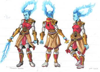 character design: Flasandra by silverleofirius