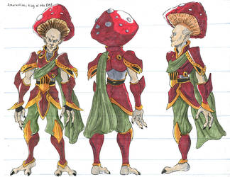 character design: Amarentine by silverleofirius
