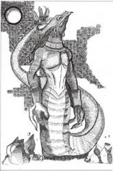 Dragon Wyrm by silverleofirius