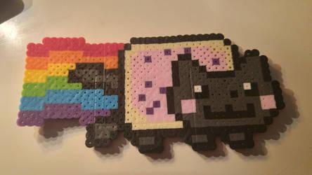 Nyan Cat (perler beads) by coriek99