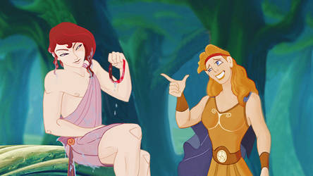 Hercules and Megara - genderbend by Miranh