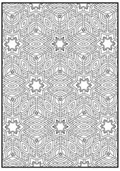 Geometric Patterns Coloring Book for Adults by innazimovec