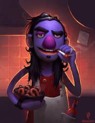 Muppet Self Portrait by mohzart