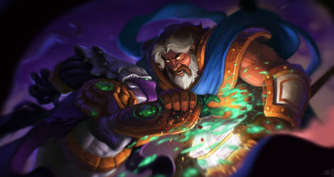 Uther and Zeratul clash! by mohzart