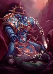 Ultramarine Commander by mohzart