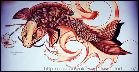 Koi Fish by ZascaAwakening
