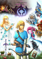 Legend of Zelda: Breath of the Wild by Scarlet---Sky