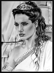 Queen Olympias, Angelina Jolie by JenniferTheFirst