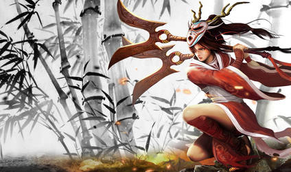 Blood Moon Akali by RiotGamesINC