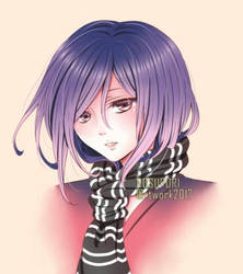 OC: Girl with Scarf by Suisaiga012