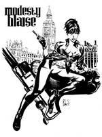 Modesty Blaise by ronsalas