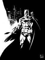 Batman in Gotham by ronsalas