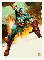 Captain America Painting by ronsalas