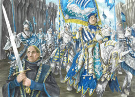 Prince Imrahil of Dol Amroth by AbePapakhian