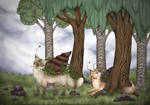 Happy Happy Catsnail / Katzenschnecke by Mohn-Fuchs