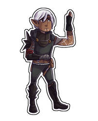 Fenris in Hawke's Mage Armour by AngelicsCanvas