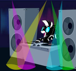 Dice Roller Dj Rocking Out  by MLP-Scribbles