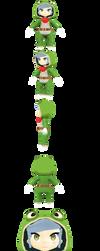 Anime Frog Girl WIP #1 by Linkzelda41