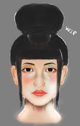 Ice Bracelet Blacksmith Girl Concept WIP by Linkzelda41