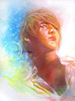 Junsu :Mix Media Portrait: by terra86