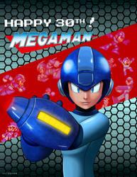 Megaman 30th Annyversary Fanart by SeiDassen