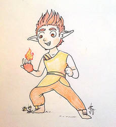 03. Fire Crocus Elf by ValentinaRDEste