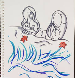 Another Mermaid Doodle that I posted on Instagram by Hywella-ARts