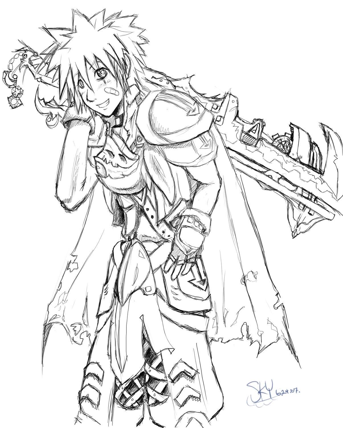 Sora - Keyblade War by KazenoKizu928