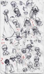 Doodle Sheet 16 by Kim-cat3120