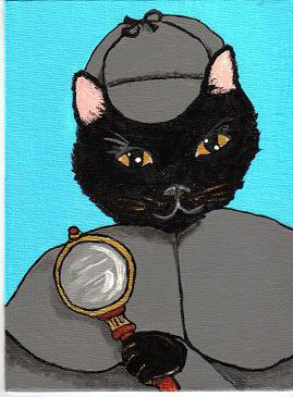Holmes the Cat Detective by graveinimages