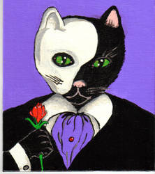 Cat Phantom of the Opera by graveinimages