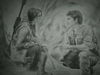 Hunger Games: Katniss and Gale by WednesdaySerio