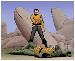 Kirk vs Gorn Colors by TroyHoover