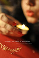 tiny candle by Jiah-ali