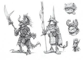 On the Shoulders of Heroes- Goblins by eoghankerrigan