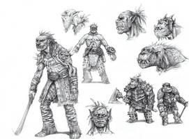 On the Shoulders of Heroes- Orcs by eoghankerrigan