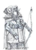 On the Shoulders of Heroes- Half Giant Ranger by eoghankerrigan