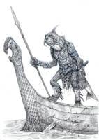 On the Shoulders of Heroes- Fish Man by eoghankerrigan