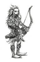 Gelfling archer by eoghankerrigan