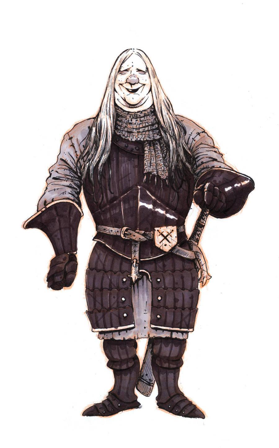 Inktober #7 - Mercenary by eoghankerrigan