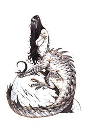 Inktober #10 - Dragon lady by eoghankerrigan