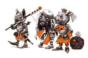 Inktober #23 - Halloween squires by eoghankerrigan