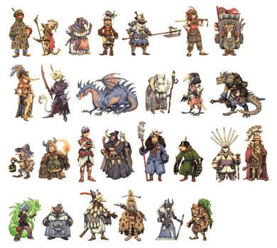 JRPG Characters Part 1 by eoghankerrigan