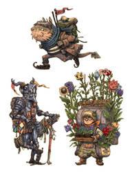 JRPG Characters 13 by eoghankerrigan