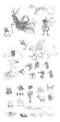 Doodles 1 by eoghankerrigan