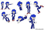 Humanised Sonic the Hedgehog by OffClaireBlue2001