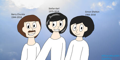 Heavenly selfie with Barry, Stefan Karl and Simon by OffClaireBlue2001