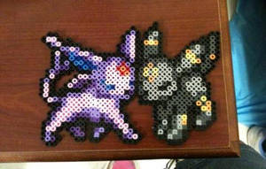 Umbreon and Espeon Sprite by Eveofillusions