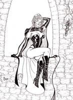Black Queen Inked by broken-nib