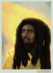 Bob Marley portrait painting by eydii